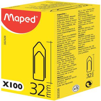 MAPED Attache-lettres 32 mm. boîte de 100