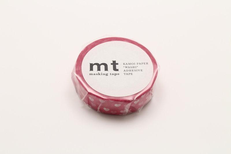 MT MASKING TAPE MT 1P Motif nuée de cœurs rose / heart spot