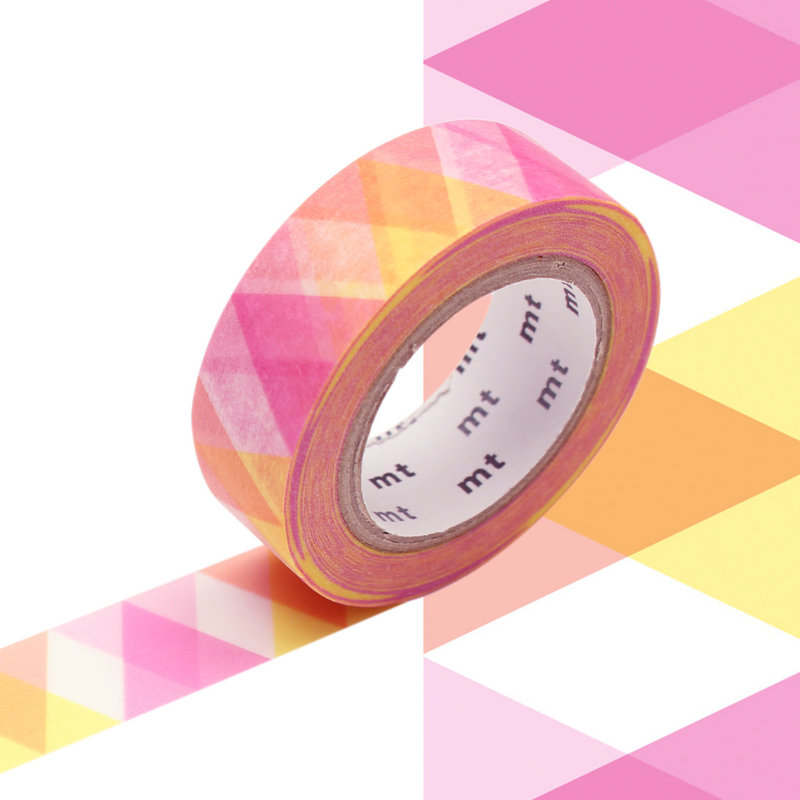 MT MASKING TAPE MT 1P Motif arlequin rose / diamond pink