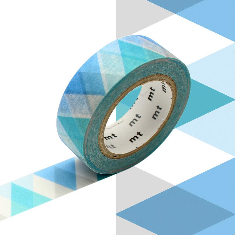 MT MASKING TAPE MT 1P Motif arlequin bleu / diamond blue