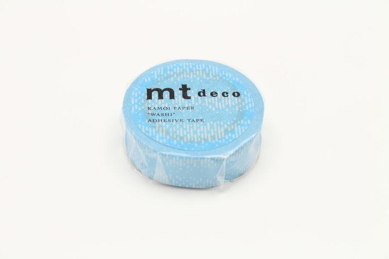 MT MASKING TAPE 1P Motif traits bleu  - 1,5 cm x 10 m
