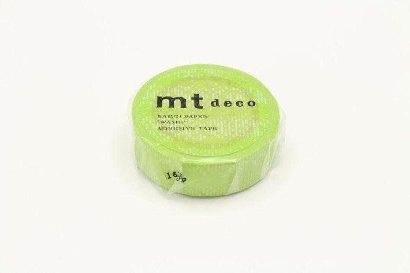 MT MASKING TAPE 1P Motif traits vert  - 1,5 cm x 10 m