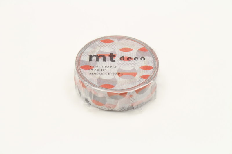 MT MASKING TAPE MT 1P Motif cercles orange / overlapped orange