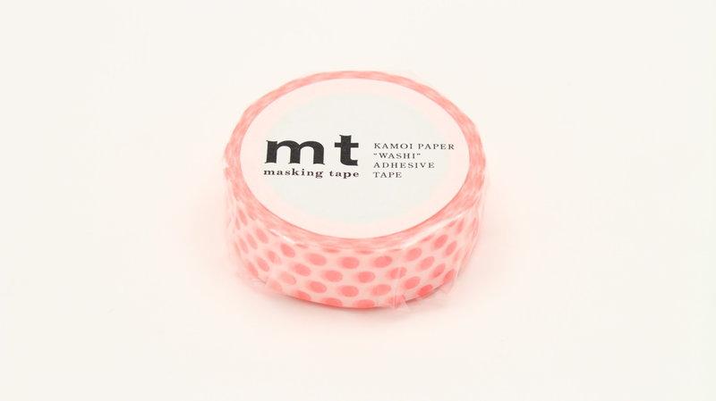 MT MASKING TAPE MT 1P Motif pois rouge fluo / dot shocking red