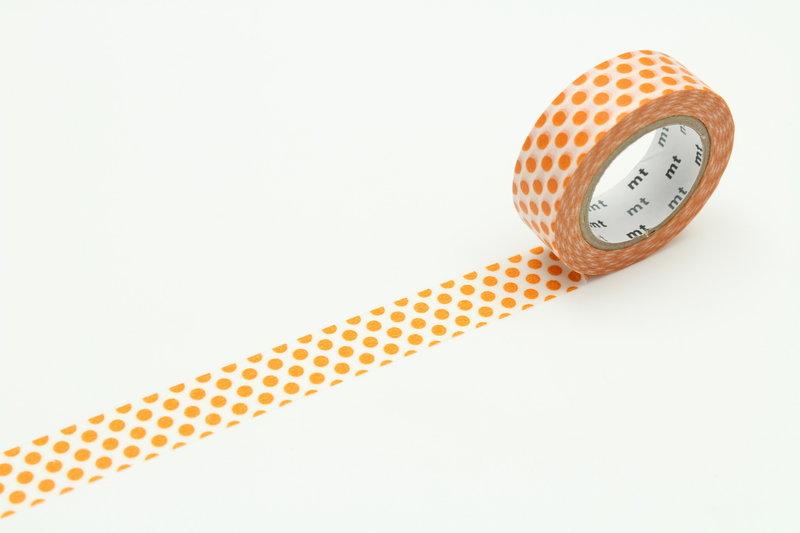 MT MASKING TAPE MT 1P Motif pois orange / dot mandarin