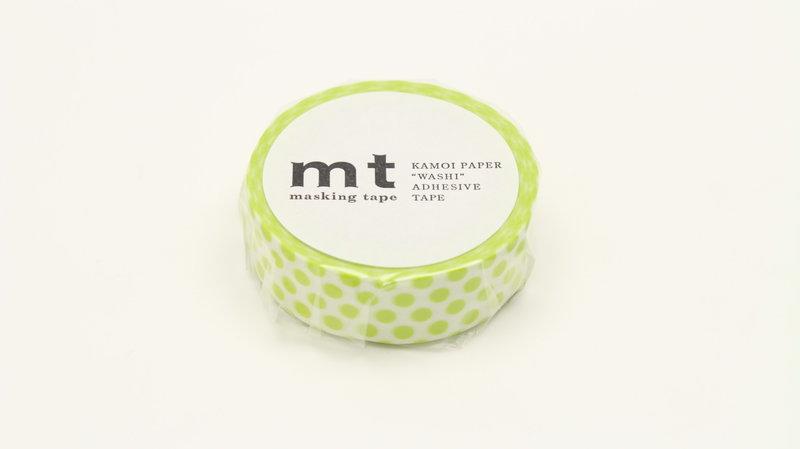 MT MASKING TAPE MT 1P Motif pois vert anis / dot lime