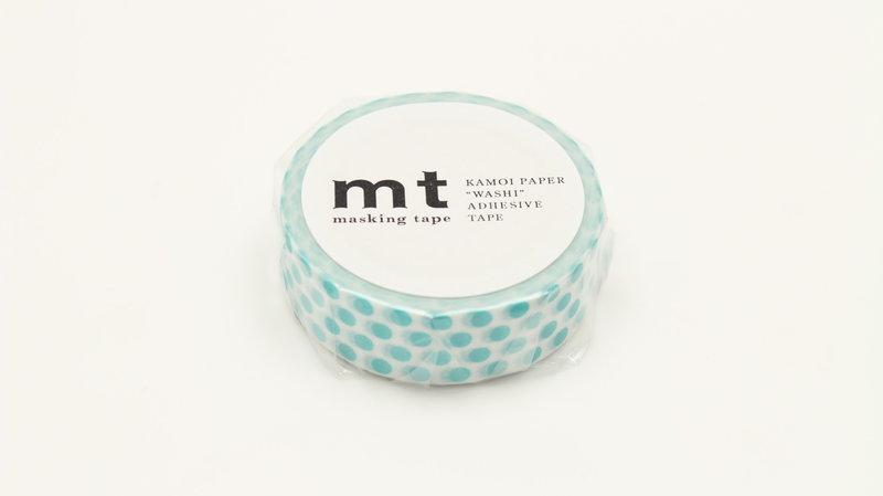 MT MASKING TAPE MT 1P Motif pois bleu lagon / dot soda