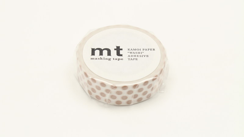 MT MASKING TAPE MT 1P Motif pois beige / dot milk tea