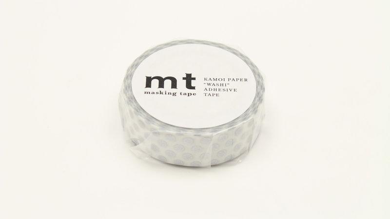 MT MASKING TAPE MT 1P Motif pois argent / dot silver