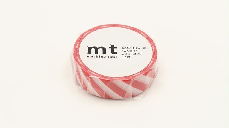 MT MASKING TAPE MT 1P Motif rayures rouge / stripe red