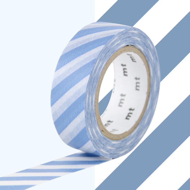 MT MASKING TAPE MT 1P Motif rayures bleu gris / stripe grayish sjy