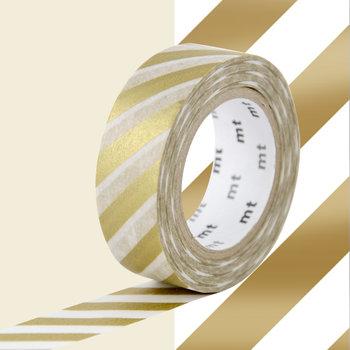 MT MASKING TAPE MT 1P Motif rayures or / stripe gold