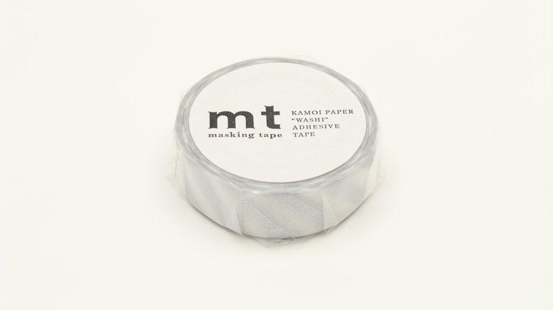 MT MASKING TAPE MT 1P Motif rayures argent / stripe silver