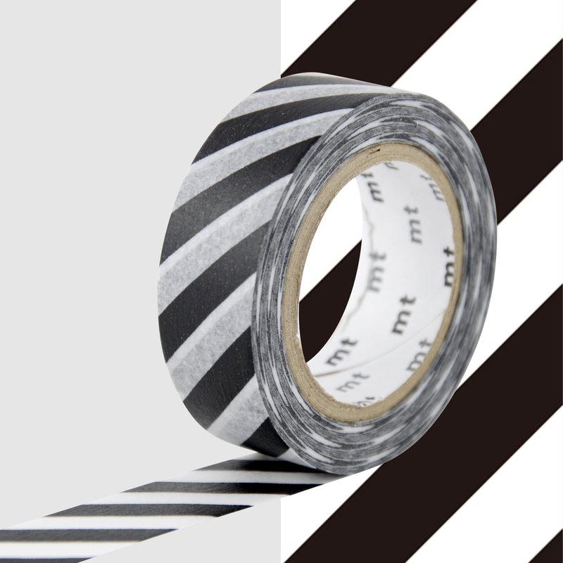 MT MASKING TAPE MT 1P Motif rayures noir / stripe black