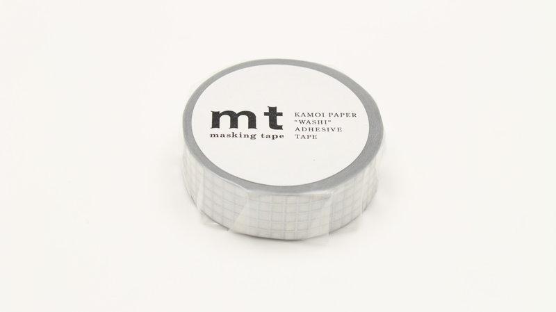 MT MASKING TAPE MT 1P Motif quadrillé argent