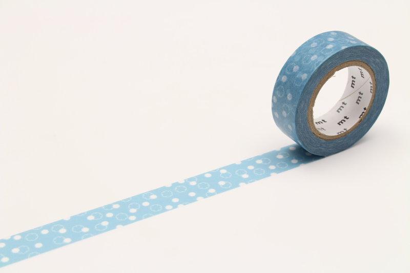 MT MASKING TAPE MT 1P Motif fleur de coton bleu / yukiwa