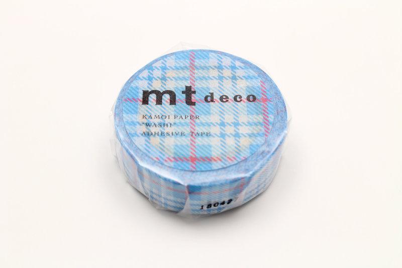 MT MASKING TAPE MT 1P Motif tartan écossais bleu / check blue