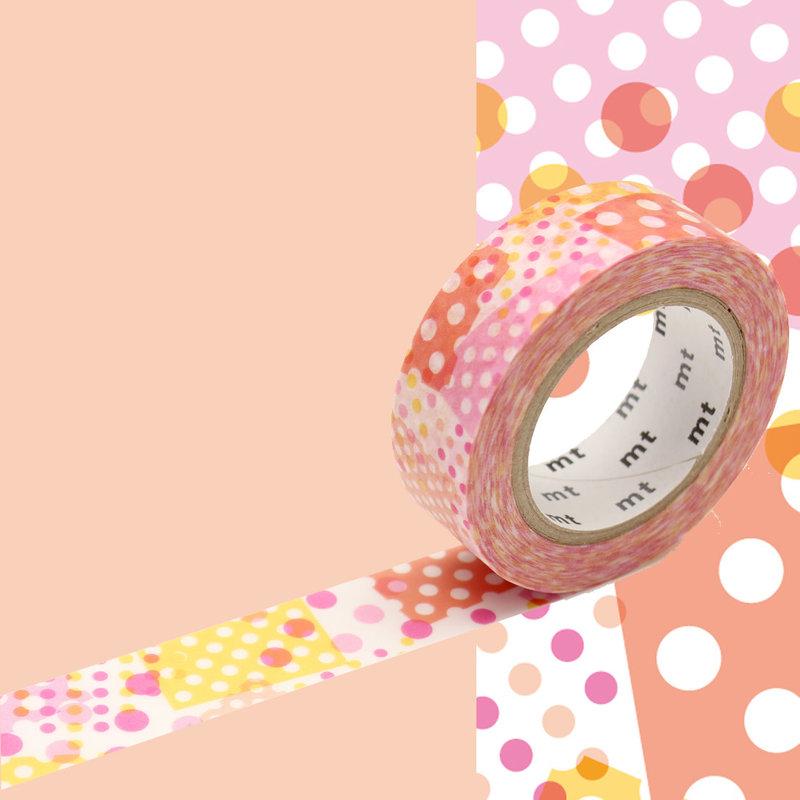 MT MASKING TAPE MT 1P Motif collage pois rose / negapoji pink