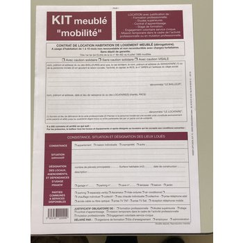 WEBER DIFFUSION Kit meublé mobilité