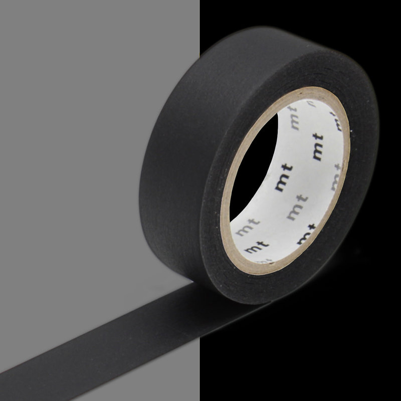 MT MASKING TAPE MT 1P Uni - noir matte black