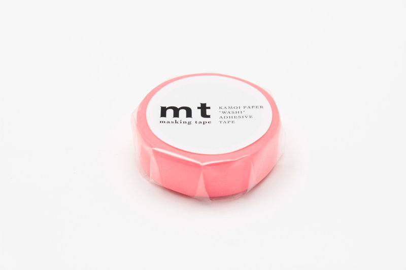 MT MASKING TAPE MT 1P Uni - shocking red (rouge fluo)