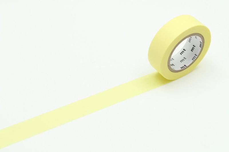 MT MASKING TAPE MT 1P Uni - pastel jaune / lemon