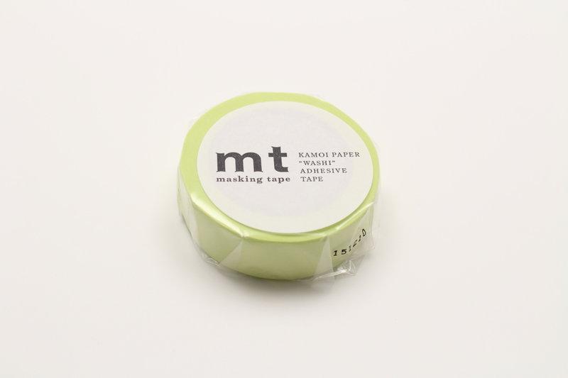 MT MASKING TAPE MT 1P Uni - pastel vert citron / lime