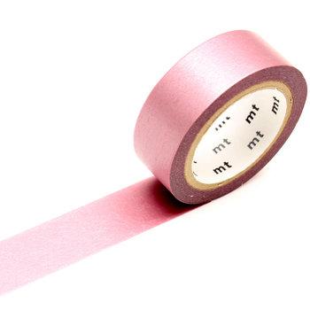 MT MASKING TAPE 1P Uni Pearl irisé rose  - 1,5 cm x 10 m