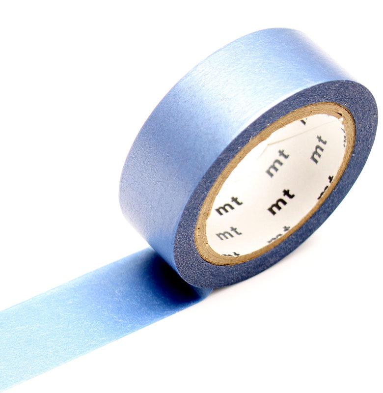 MT MASKING TAPE MT 1P Uni Pearl irisé bleu céleste / blue - 1,5cm x 7m