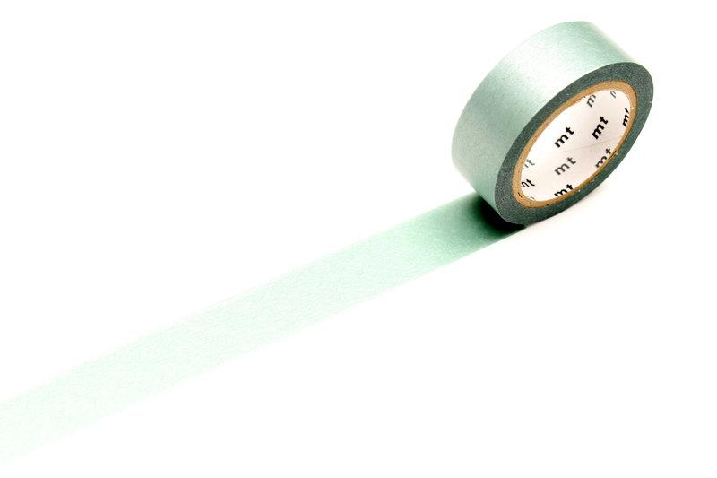 MT MASKING TAPE 1P Uni Pearl irisé vert d'eau  - 1,5 cm x 10 m
