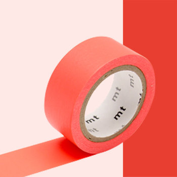 MT MASKING TAPE MT EXTRA-FLUO luminescent rouge /red