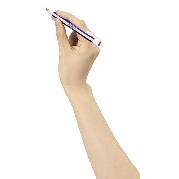 TOMBOW EH-KUR Stylo gomme MONO zero, rechargeable, pointe ronde diamètre 2,3 mm, bleu / blanc / noir