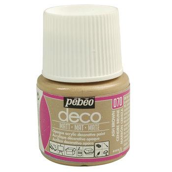 PEBEO Peinture Déco mate - 45 mL - Centre brune