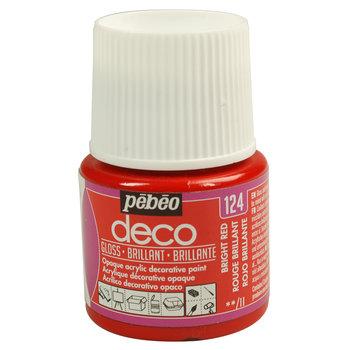 PEBEO Peinture Déco brillante - 45 ml - Rouge brillant