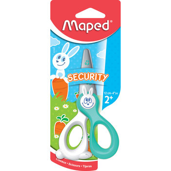 MAPED Ciseaux KIDIKUT 12 cm. lames sécurité. coloris assortis