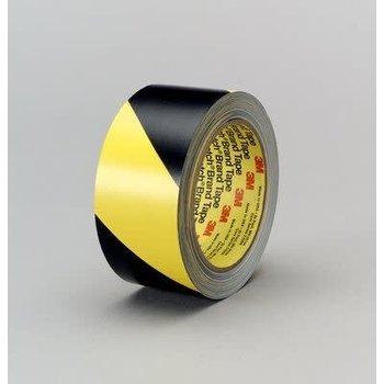 3M Ruban adhésif vinyle 3M™ 5702, Jaune/Noir, 50 mm x 33 m