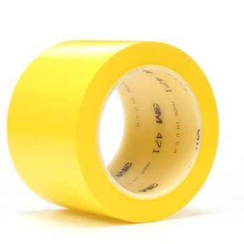 3M Ruban adhésif vinyle 3M™ 471, Jaune, 50.8 mm x 33 m