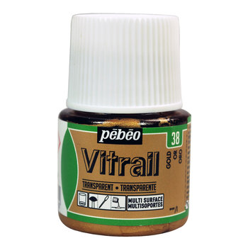PEBEO Peinture Vitrail transparente - 45 mL - Or