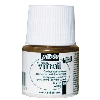 PEBEO Peinture Vitrail transparente - 45 mL - Blanc