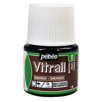 PEBEO Peinture Vitrail transparente - 45 ml - Brun