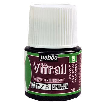 PEBEO Peinture Vitrail transparente - 45 mL - Violet rouge