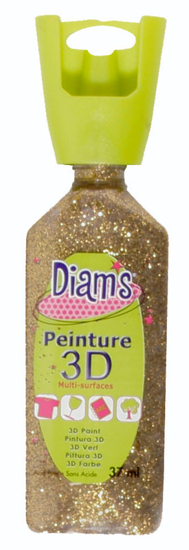 DIAM'S DIAM'S 3D, 37ml, Pailleté Or