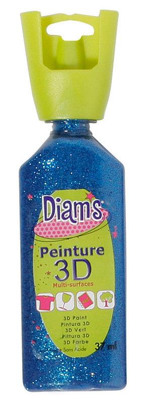 DIAM'S DIAM'S 3D, 37ml, Pailleté Bleu Nuit