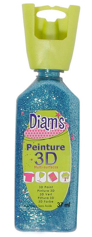 DIAM'S DIAM'S 3D, 37ml, Pailleté Aquamarine