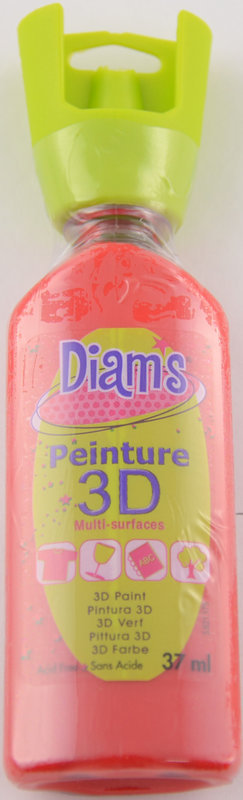 DIAM'S DIAM'S 3D, 37ml, Brillant Rouge Coquelicot