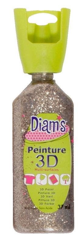 DIAM'S DIAM'S 3D, 37ml, Pailleté Champagne