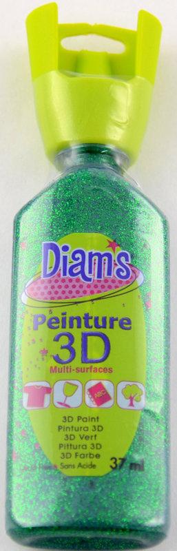DIAM'S DIAM'S 3D, 37ml, Pailleté Vert
