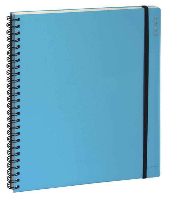 EXACOMPTA Agenda Scolaire Semainier Bureau SAD 22W Iderama 18x22cm bleu