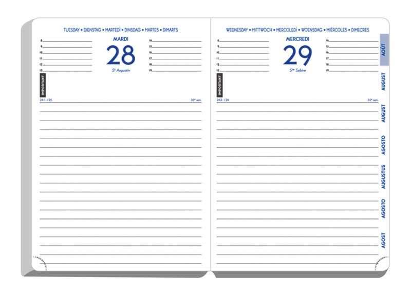 EXACOMPTA Agenda Scolaire 1 jour par page Forum Tweed 170x120 couleurs aléatoires
