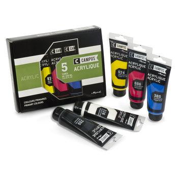 CAMPUS Acrylique fine Coffret 5 tubes de 100 ml